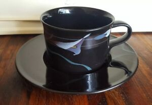 Mikasa Galleria Opus Black Cup And Saucer Duo FK701