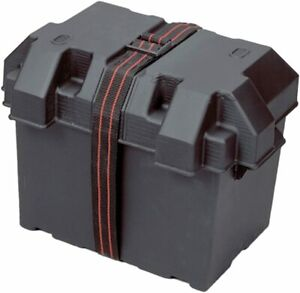 Powerhouse 13035 12-Volt RV Battery Box Group 27 Black New Free Shipping USA