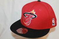 Miami Heat Hat Cap XL Logo Black Visor Red Top ORG by Mitchell & Ness NBA Caps