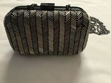 Next  Silver Beaded Clutch bag from next RRP £32