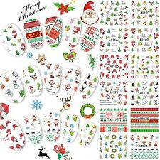 Christmas Snowflakes Nail Art Stickers Decals Santa Reindeer Trees Lace Stars