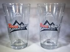 "Lot Of 2 Coors Light Restaurant ""The Silver Bullet"" Heavy Pint Glasses"