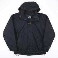 Vintage HELLY HANSEN Black Hooded Outdoor Jacket Men's Size Large