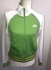 Women's North Face Lime/White//Yellow Zip Up Baseball Jacket Size M.