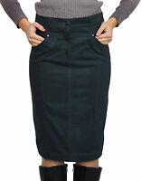 Warm Lined Straight Pencil Skirt Graphite Grey Denim UK 8 10 12 14 16 18 20 22