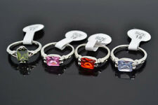Wholesale Mixed Lots Jewelry 20pcs Resale Zirconia Silver Plated Women's Rings