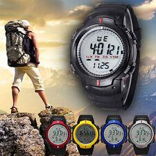 Moda uomo Waterproof LCD digitale cronometro data gomma Sport orologio da polso