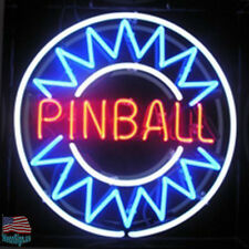 Pinball Game Room Neon Light Sign 17''x14'' From USA