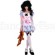 Ladies Zombie Girl Fancy Dress Costume Womens Halloween Alice Dorothy Storybook