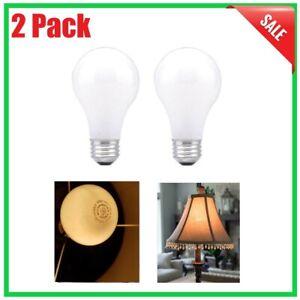2 PACK Incandescent Light Bulb 50-200-250-Watt Soft White 3 Way A21 Floor Lamp