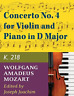Mozart Wolfgang Amadeus-Mozart Wa Concerto No 4 In D M BOOK NEW