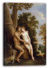 Lienzo/Marcos David Teniers el más joven - Adán y Eva en el paraíso