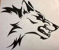 "small 7x"" wolf head tribal vinyl graphic decal car side sticker motorbike boat"