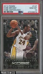 2012 Panini Anthology #147 Kobe Bryant Los Angeles Lakers HOF PSA 10