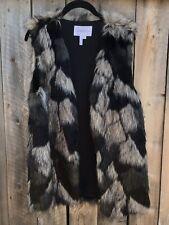 BCBG Generation Womens Fury Vest Coat  Faux Fur Small