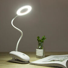 18 LED Reading Light Clip-on Clamp Bed Table Desk Lamp Touch Sensor Rechargeable
