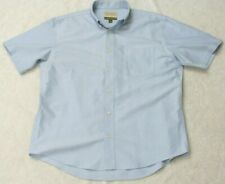 Cabela's Blue Man's Pocket Dress Shirt Cotton Short Sleeve Size Large Button Up