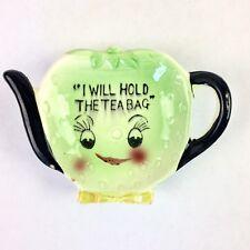 Vintage Tea Bag Rest Porcelain Made in Japan Green Tea Kettle Face