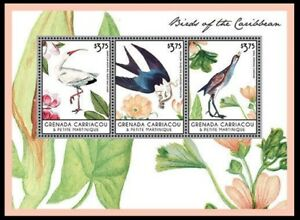 Grenada 2013 MNH SS, Water Birds, American White Ibis, Swallow-tailed Kite