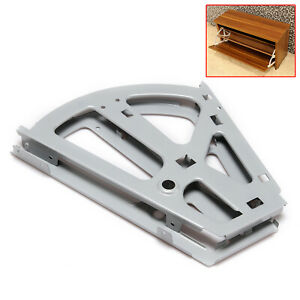 2x Grey Metal Hinges for Storage Cabinet White Two-layer Shoe Cabinet Flip Frame
