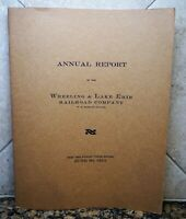 """1915 Wheeling & Lake Erie Railroad Co. Annual Report 9"""" x 12"""" Booklet MAP 33 Pgs"""