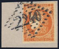 FRANKREICH 1871, MiNr. 43 a, schönes Briefstück, gepr. Dr. Goebel, Mi. 130,-