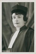Avocate et féministe française Suzanne Grinberg, ca.1925, Vintage silver print v
