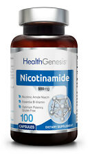 Health Genesis Nicotinamide Vitamin B-3 Flush Free 500 mg 100 Caps