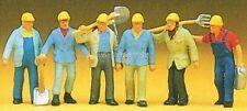 H0 Preiser 10033 Gleisbauarbeiter. Figuren. OVP