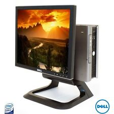 """Dell USFF A Basso Costo PC Desktop Computer 2GB 160 GB Win 7 + 17 """"Monitor WIFI VELOCE WIN 7"""