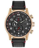 Citizen Eco-Drive Men's Rose Gold Tone Chronograph 45mm Watch CA0683-08E