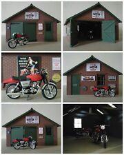 LGB & G SCALE RESIN MOTORCYCLE REPAIR WORKSHOP UNIT BRAND NEW & UNBUILT IN BAG