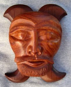 Wooden Masks Art Wall Sculptures For Sale Ebay