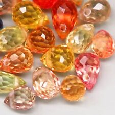 5.84Ct.Natural Fancy Color Sapphire Africa Briolette Lot Drilled Dazzling Heated