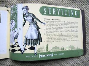 The Crest Parkinson Gas Cooker Service Manual - RARE Super condition