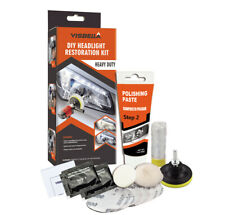 DIY Car Vehicle Motorcycle Headlight Lamp Lens Cleaning Restoration Kit - Auto
