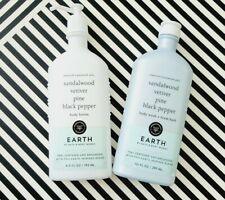 Bath and Body Works Earth Aromatherapy Body Wash and Body Lotion