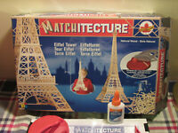 Matchitecture Eiffel Tower Natural Wood Building Kit with Microbeam Cutter