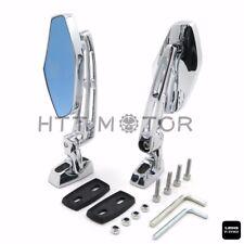 Chrome 6mm CNC Aluminum Rearview Side Mirrors for Yamaha XVS1100 V-Star Custom