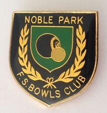 Noble Park FS Bowling Club Badge Pin Vintage Laurel Wreath Design (L29)