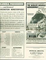 the Revenge of Frankenstein press book 1959  Peter Cushing early Hammer Horror