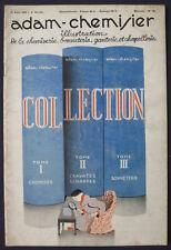 Men's Fashion Art Deco Magazine Adam-Chemisier 08/15/1936