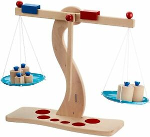 Goki Children Kids Educational Toys Wooden Balance Scales