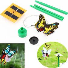 Decoracion al aire libre divertido nuevo caliente solar powered mariposa volando