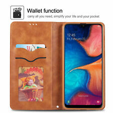 Samsung Galaxy A70 A50 A30 A20 A8 Case, Magnetic Leather Wallet Flip Cover