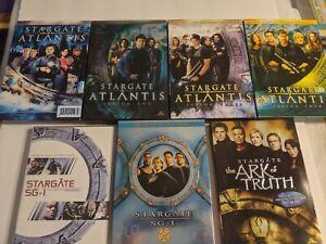 Stargate Atlantis Season 1-4, SG-1 Seasons 1 & 10, Ark of Truth DVD Sets