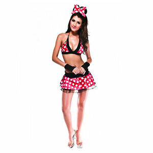 Adult Minnie Mouse Outfit Halloween Fancy Dress Costume A