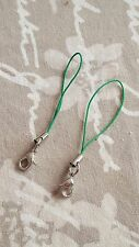 GREEN Keys Charms USB Lanyard Camera Strap Phone Cell Holder Card Mobile MP3 x2