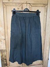 SEASALT SIZE 14 Linen Below Knee Length Saturation Skirt * greyish green