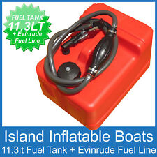 11.3 Litre OUTBOARD FUEL TANK ✱ EVINRUDE FUEL LINE ✱ 11 LT Boat Petrol FREE POST